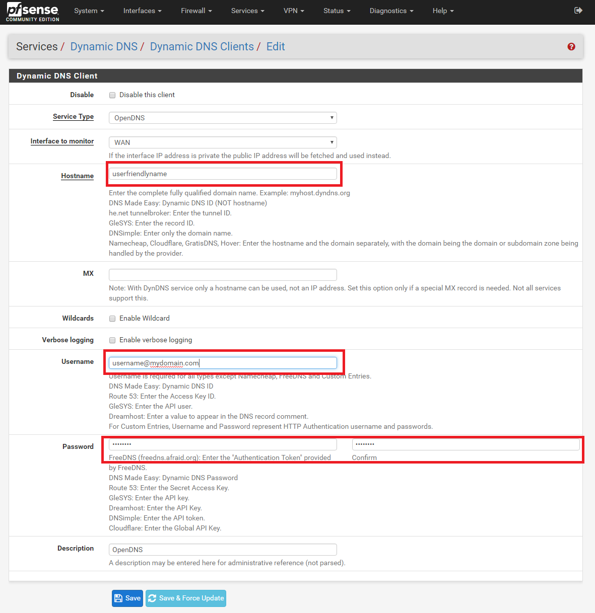 Full use of OpenDNS with pfSense – Samuel Dalesjö